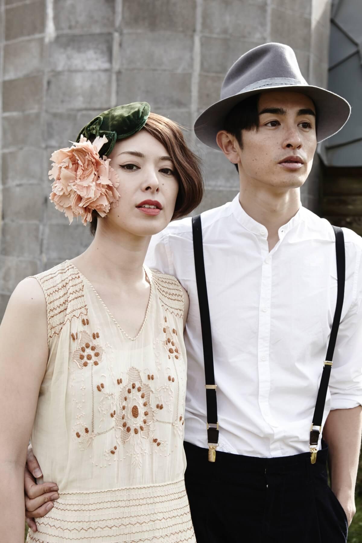 アンティークドレスのフォトウェディング写真