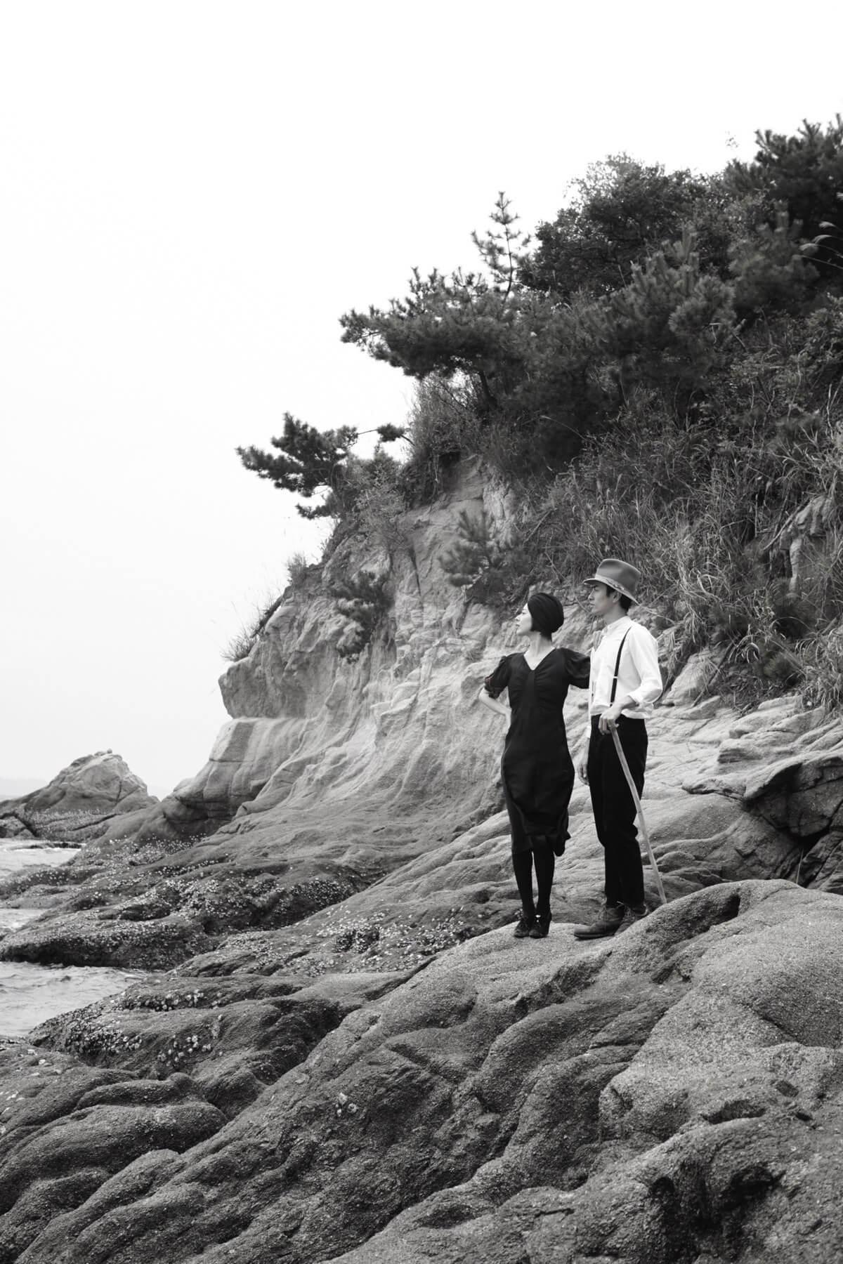 海でフォトウェディング写真